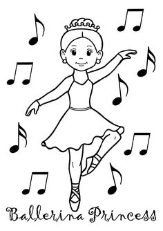ballerina princess coloring page