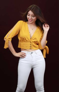 Crop Top Outfits, Casual Outfits, Fashion Outfits, Myanmar Dress Design, Indian Designer Wear, Western Outfits, Trendy Tops, Couture Dresses, Comfortable Outfits