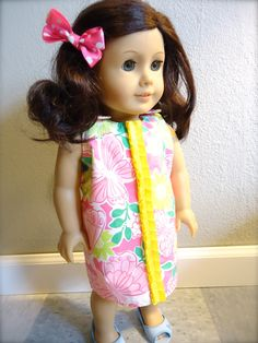 American Girl Lilly Pulitzer  Mini Little Lilly Shift by Pyrexluv, $27.00