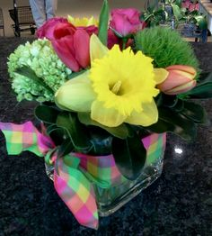 Spring flower arrangement by Kelly Garcia
