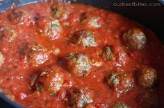 this Spaghetti and meatballs recipe has a FREEZER MEAL to CROCK POT option! Add whole wheat paste and turkey meatballs or sweet turkey sausage watch sodium Italian Meatball Sauce Recipe, Homemade Italian Meatballs, Meatball Recipes, Meatball Subs, Meatball Sandwiches, Spaghetti And Meatballs, Spaghetti Sauce, Turkey Meatballs, Recipes