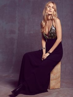 Lovers + Friends Good as Gold Maxi at Free People Clothing Boutique
