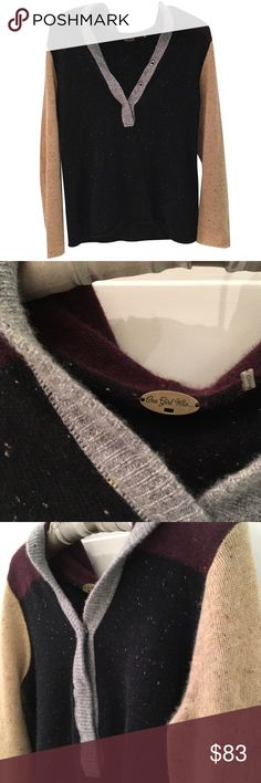 Anthropologie Cashmere Colorblock Hoodie Sweater 🎁Offers welcome                                                   🔑Bundle to save                                                       👍Like for price drop notifications                                 EUC, no stains spots or loose threads. One Girl Who... Anthropologie brand. Incredibly soft to the touch. Speckled detail. Buttons down the front up to the waist. Neutral gray, brown, beige, maroon and black colors. Truly one of a kind. No…