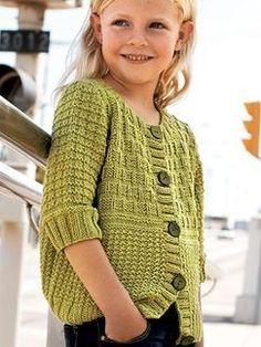 Knitting patterns children cardigan girls sweaters 69 new ideas Baby Knitting Patterns, Knitting For Kids, Crochet For Kids, Free Knitting, Knit Crochet, Crochet Patterns, Crochet Stitches, Knit Cardigan Pattern, Sweater Patterns