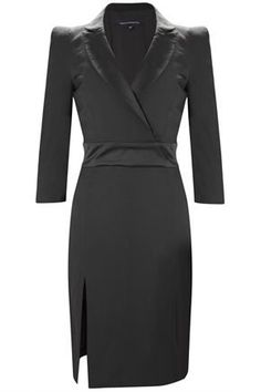 Extremely suited for all the plus size power woman. You may think of tailoring the split in the skirt, but we feel it is showing just enough to stay classy