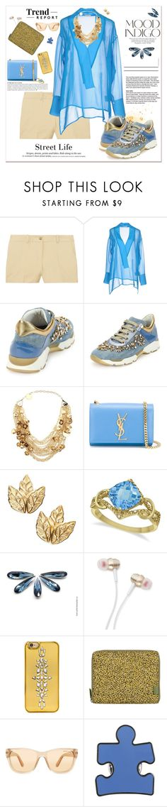 """""""Denim for SSX16"""" by adduncan ❤ liked on Polyvore featuring Anja, Lumière, Michael Kors, Le Ragazze Di St. Barth, H&M, Elie Saab, Yves Saint Laurent, Allurez, ANNA and Therapy"""