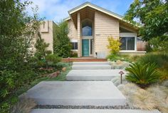 Contemporary, Wide Concrete Steps  Front Yard Landscaping  DC West Construction Inc.  Carlsbad, CA