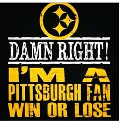 Pittsburgh fan Pitsburgh Steelers, Here We Go Steelers, Pittsburgh Steelers Football, Pittsburgh Sports, Steelers Stuff, Dallas Cowboys, Steelers Season, Pittsburgh Penguins, Indianapolis Colts
