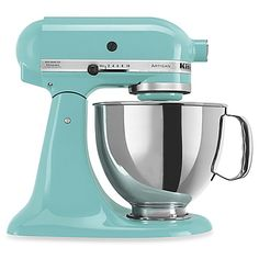 When Pistachio bites the dust? Aqua - This attractively styled KitchenAid Stand Mixer is reason enough for you to get busy in the kitchen. With a powerful 325 watt motor, it can handle any task you put to it.