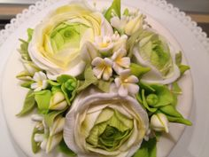 Ranunculus green and white...