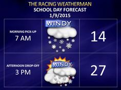Friday forecast now available at http://racingwxman.weebly.com/