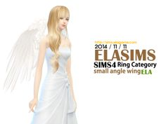 "elagamesoft:  "" Sims 4 Angel wing small version  "" For Unisex  Find CAS Ring Category  new mesh.  ""  You can download via our website.  Our website also offers English so if you become a member you can download..."