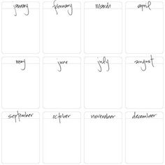 A Vegas Girl at Heart: Monthly Journal Cards Freebie