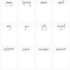 Monthly Journal Cards Freebie #projectlife #journal #freebie