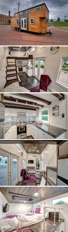 House on wheels for sale visit open big tiny house on wheels at monroe tiny houses - Small homes big space collection ...