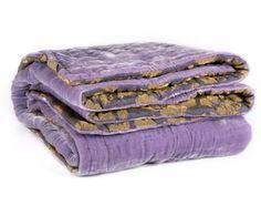 Fabric Copenhagen silk and silk velvet blanket