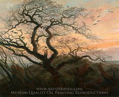 Caspar David Friedrich The Tree of Crows painting is shipped worldwide,including stretched canvas and framed art.This Caspar David Friedrich The Tree of Crows painting is available at custom size. Caspar David Friedrich, C D Friedrich, Casper Friedrich, Friedrich Nietzsche, Framed Art Prints, Painting Prints, Canvas Prints, Canvas Artwork, Oil On Canvas