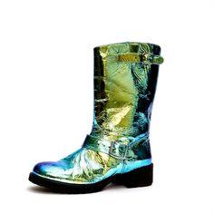 Blumarine iridescent boots - strangely I'm kinda digging em......