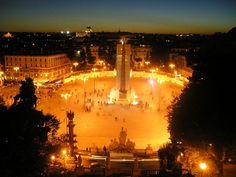Piazza del Popolo from the Pincio Gardens