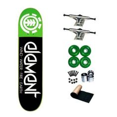 Element Fractal Green 8.0 Skateboard Deck Complete by element. $76.02. 1 set - Skateboard Hardware & 1 - Black Randel Grip Tape. 8 - Abec 3 Bearings. 4 - Yellow Jacket Blank Wheels 53mm. 2 - Frontage Trucks. Brand New Element Skateboard Deck 8.0 x 32. Brand New, Top Quality Element Skateboard Complete