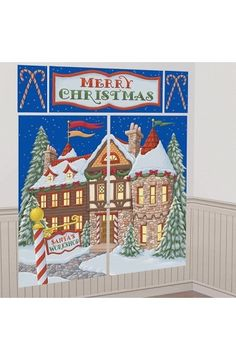 Santa's Workshop Scene Setter Kit - Christmas & Winter Decorations