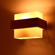 Resultado de imagen para lamparas de pared en madera