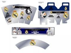 Kit Imprimible Real Madrid Tarjeta Decoracion Fiestas Globos - Bs. 100,00