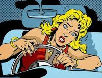 Portrait of a Young Woman Struggling to Drive a Car Medical Illustration, Perfect Photo, Royalty Free Photos, Art Images, True Stories, Art Photography, Disney Characters, Fictional Characters, Clip Art