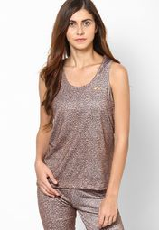 Dial up your style quotient this summer by hitting the streets wearing this trendy brown coloured top from ONLY. The attractive print lends this top its fashion appeal, while the 95:5 polyester spandex fabric promises lightweight comfort