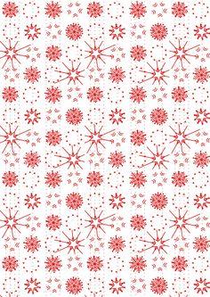 FREE printable snowflake pattern paper | Christmas