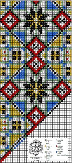 bringeklut 143 C Cross Stitch Charts, Cross Stitch Designs, Cross Stitch Embroidery, Hand Embroidery, Cross Stitch Patterns, Loom Bracelet Patterns, Bead Loom Patterns, Beading Patterns, Loom Animals