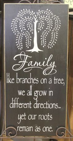 Items Similar To Willow Tree Family Beautiful Sign/Great  Gift/Housewarming/Gift/wood Sign/Family Tree Sign/Hand Painted/Navy/Large  Sign On Etsy