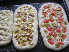 Fotorecept: Focaccia - talianska chlebová placka - My site Slovak Recipes, Italian Recipes, Good Food, Yummy Food, Pizza, Cooking Recipes, Healthy Recipes, Bread And Pastries, Savory Snacks