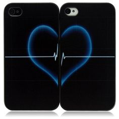 Heart Shape iPhone 4/4S Protective Plastic Hard Case Cover for Couples on Yoyoon.com. Make every day valentines day!