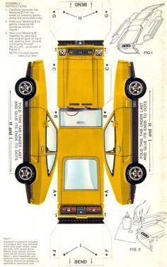 Ford 1974 Mustang in paper
