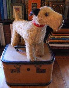 Dogs Dependable Large Wire Haired Fox Terrier Figurine By Cooper Craft Very Collectable
