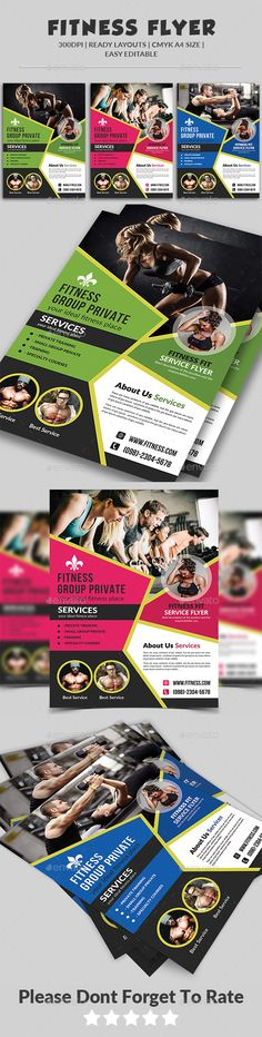 Fitness Flyer - Gym Flyer Bundle Gym - fitness flyer