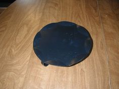 Black 9 Inch Round Candle Holder ~ for sale at Wenzel Thrifty Nickel eCRATER store