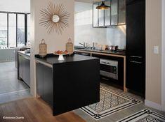 I love this kitchen!!! Carreaux de ciment cuisine