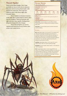 Firebringeraxel's Creations : Photo. Spider stats
