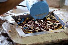 proceso fabricacion baldosa hidraulica antigua