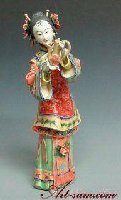 Ancient Chinese Lady - Shiwan Ceramic Lady Figurine Dolls