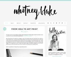 Blog Design and Layout Inspiration - Whitney Blake Blog www.whitspeaks.com