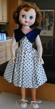 1959 vinyl doll (Betsy McCall) with flirty eyes.