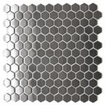 Honeycomb Hexagon Mosaic Stainless Steel Tile  EMT_103-SIL-SM $21