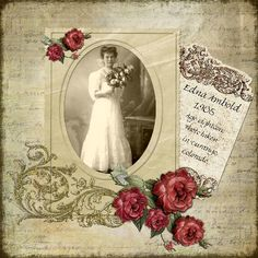 Romantic Heritage - Scrapbook Layouts - digital layout but can reproduce with papers Heritage Scrapbook Pages, Wedding Scrapbook Pages, Scrapbook Journal, Scrapbook Page Layouts, Scrapbook Cards, Scrapbooking Vintage, Digital Scrapbooking, Family History Book, Wedding Album