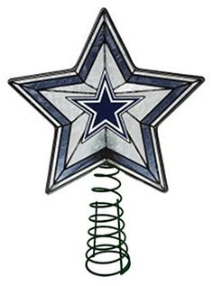 Glass Star Treetopper - Dallas Cowboys The Memory Company Dallas Cowboys Quotes, Dallas Cowboys Star, Cowboys 4, Cowboy Home Decor, Cowboy Christmas, Christmas Time, Christmas Ideas, Christmas Decorations, How Bout Them Cowboys