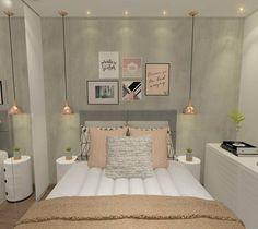 """1,161 Likes, 32 Comments -  Interiores e Arquitetura (@criarinteriores) on Instagram: """"Boa noite! Um quarto com toques de rose a pedidos da cliente que gostaria de uma decoração feminina…"""""""