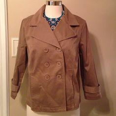 Lightweight Mini Pea Coat Trench NWOT Great mini trench Sonoma Jackets & Coats Pea Coats