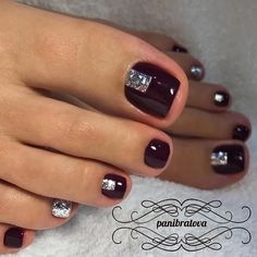 Trendy Ideas For Gel Manicure Colors Nail Tutorials New Nail Designs, Pedicure Designs, Black Nail Designs, Pedicure Ideas, Toenail Art Designs, Toe Nail Color, Toe Nail Art, Nail Colors, Manicure Colors